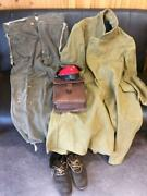 Military Japan Imperial Ww2 Coat Cargo Pants Boots Hat Seated Bag Water Bottle