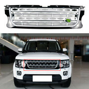 For Land Rover 2014-2016 Discovery 4 Silver Front Upper Bumper Mesh Grill Grille