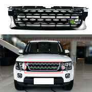 For Land Rover 2014-2016 Discovery 4 Black Front Upper Bumper Mesh Grill Grille