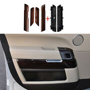 For 14-21 Range Rover Sport Red Wood Interior Door Panel Cover Trim Replace 6pcs