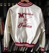 Vintage 1950s Indian Matchless Motorcycle Cotton Jacket Champion Large Tal0n 50s
