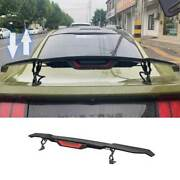 For Ford Mustang 2015-2021 Dry Carbon Fiber Rear Electric Lift Tail Wing 1pcs