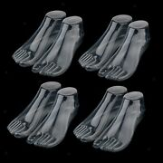 Plastic Adult Mannequin Foot Shoes Socks Jewelry Display Repeated Use Clear