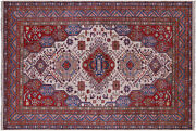 Hand Knotted Super Kazak Wool Rug 5and039 9 X 8and039 3 - Q10354