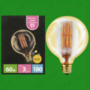 4x 60w Antique Vintage Gold G125 Dimmable Globe Light Bulbs Screw Es E27 Lamps
