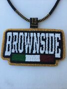 Brownside Native American Beaded Medallion Necklace