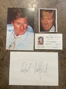 Robert Redford 1990 Fan Club Package - Pictures- Club Card Signed Index Card