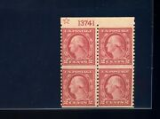 540a Washington Imperf Between Var Coil Waste Plate Block Of 4 Stamps By 259