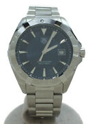 Secondhand Tagheuer Tag Heuer Quartz Watch Aquaracer Analog Stainless Steel Navy