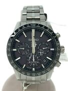 Secondhand 5x53-0ab0/sbx003/solar Watch/analog/stainless/blk/slv Clothing