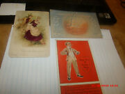 3 Antique Early 1900s Holiday Postcards.beautiful Embossed Angel Valentine.foil