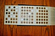 1909-1940 Lincoln Wheat Cent Collectionnearly Full W/ 75 Of 90 Coins+new Album