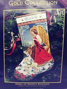 Vintage Dimensions Gold Collection Angel Of Divinity Christmas Stocking Kit 8478