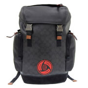 Itachi Nwt Coach X Mbj Naruto Ranger Black Leather Backpack From Japan[top Mint]