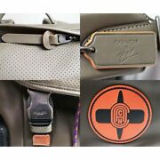 Itachi Nwt Coach X Mbj Naruto Ranger Black Leather Backpack From Japan