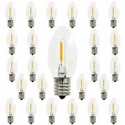 C9 Christmas Replacement Led Light Bulbs 0.6w Equivalent To 7w White Warm 2700k