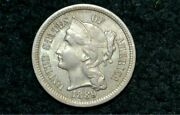 1889 Three Cent Nickel 3c Unc Details Rare Only 21561 Minted