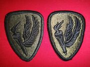 2 Us Army Aviation School Merrowed Edge Patches