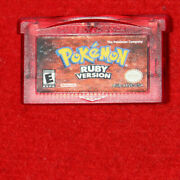 Pokemon Ruby And Sapphire Version Game Boy Advance Authentic/tested