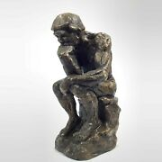 Vintage Marwal Chalkware Statue The Thinker Replica Bronze Color 16 Tall