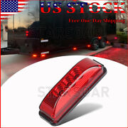 3.9red Led Side Marker Clearance Lights For Truck Boat Trailer Camper Rv Lorry