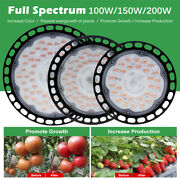 100/150/200w Ufo Led Grow Light Full Spectrum Chain Lamp For Indoor Plant Growth