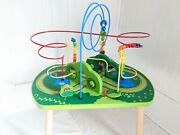 Hape Jungle Toddler Beads And Train Track Play Table- Used- No Trains See Below