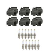 Genuine 6 Ignition Coils And 12 Spark Plugs Kit For Mercedes W211 S211 W163 V6