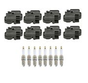 Genuine 8 Ignition Coils And 8 Spark Plugs Kit For Mercedes W210 E55 Amg 5.5l V8