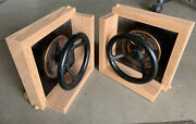 Antique Western Electric Lower/raise Control Valves Made Into Bookends