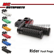Cnc 40mm Extend Front Foot Pegs Pole For Honda Cbr1000rr 2004-2007 04 05 06 07