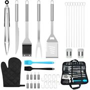35 Pcs Bbq Grill Tools Set Grilling Accessories Stainless Steel Backyard Outdoor