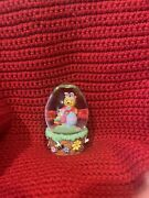 Disney Winnie The Pooh And Piglet Easter Egg Glass Glitter. Collectable.