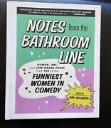 Notes From The Bathroom Line Hardcover 2021 By Amy Solomon