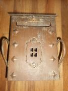 Vintage Arts And Crafts Antique Metal Mailbox Mail Slot - Neat