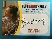 Cryptozoic Big Bang Theory Season 6 And 7 Laurie Metcalf As Mary Cooper Autograph