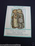 H429- Rare Unused Ars Sacra Hummel Religious Confirmation Day Greeting Card