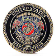 Us Marine Corps Gold Plated Coin Collection Art Gift Commemorative Coins Gif.j
