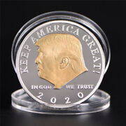 Us President Donald Trump 2020 Silverandgold Plated Challenge Coin Non-currenc.j