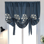 Blackout Short Curtains For Kitchen Blinds Window Treatment Tie Up Rod Cutains