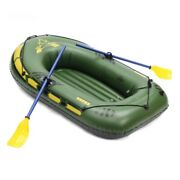 Inflatable 3person 200kg Rowing Rafting Fishing River Dinghy Boat Pump Oars Set