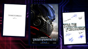 Transformers Script/screenplay And Movie Poster And Autographs Signed Print