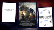 Transformers - Age Of Extinction Script/screenplay Poster Autograph Signed Print