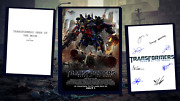 Transformers - Dark Of The Moon Script/screenplay Poster Autographs Signed Print