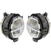 Front Left And Right Genuine Fog Lights Sae Pair Set For Mini F54 F55 F56 F57 Led