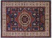 Hand-knotted Mamluk Wool Rug 5and039 10 X 7and039 9 - Q10448