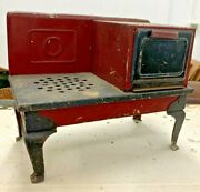 Vintage Tin Childs Toy Electric Stove / Oven - Collectible Only