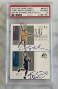 2002 Kobe Bryant/kevin Garnett Dual Auto Sp Game Used Extra Significance Psa 10