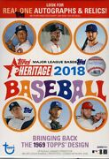 2018 Topps Heritage Baseball Blaster 16 Box Case Blowout Cards