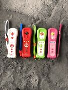 Lot Of 4 Nintendo Wii Remote Motion Plus Peach Toad Yoshi Mario Tested